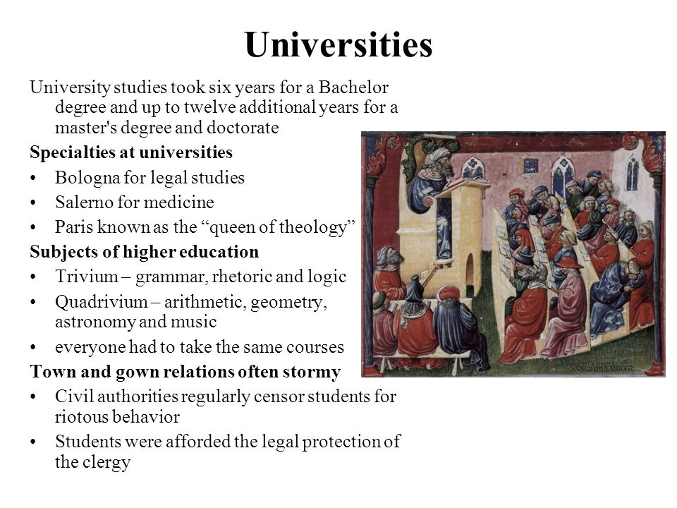 universities in middle ages Today, oxford is one of the most international universities in the world around a  third of students are from abroad and they come from over 125.