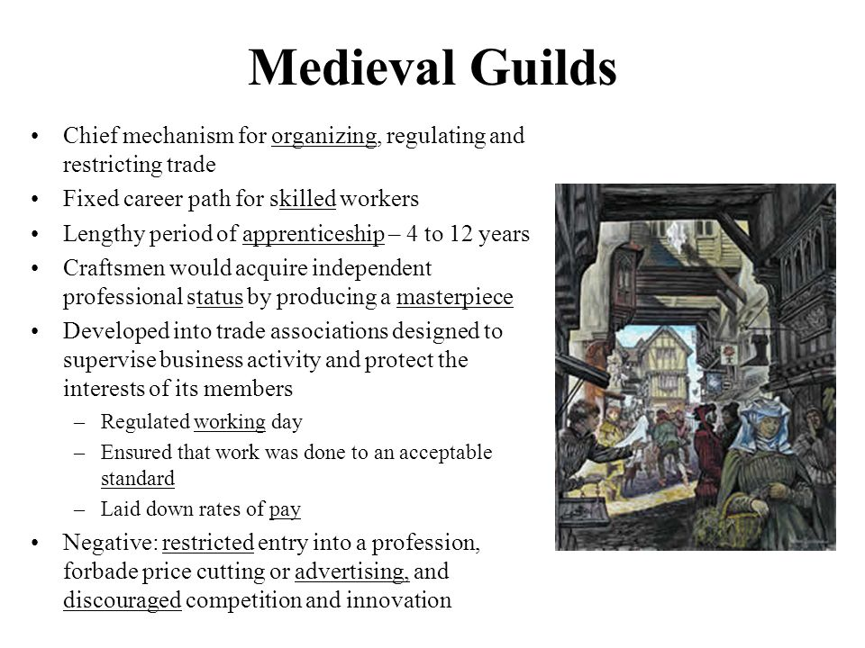 medieval trades skills essay Medieval guilds gary richardson, university of california, irvine guilds existed throughout europe during the middle ages guilds.