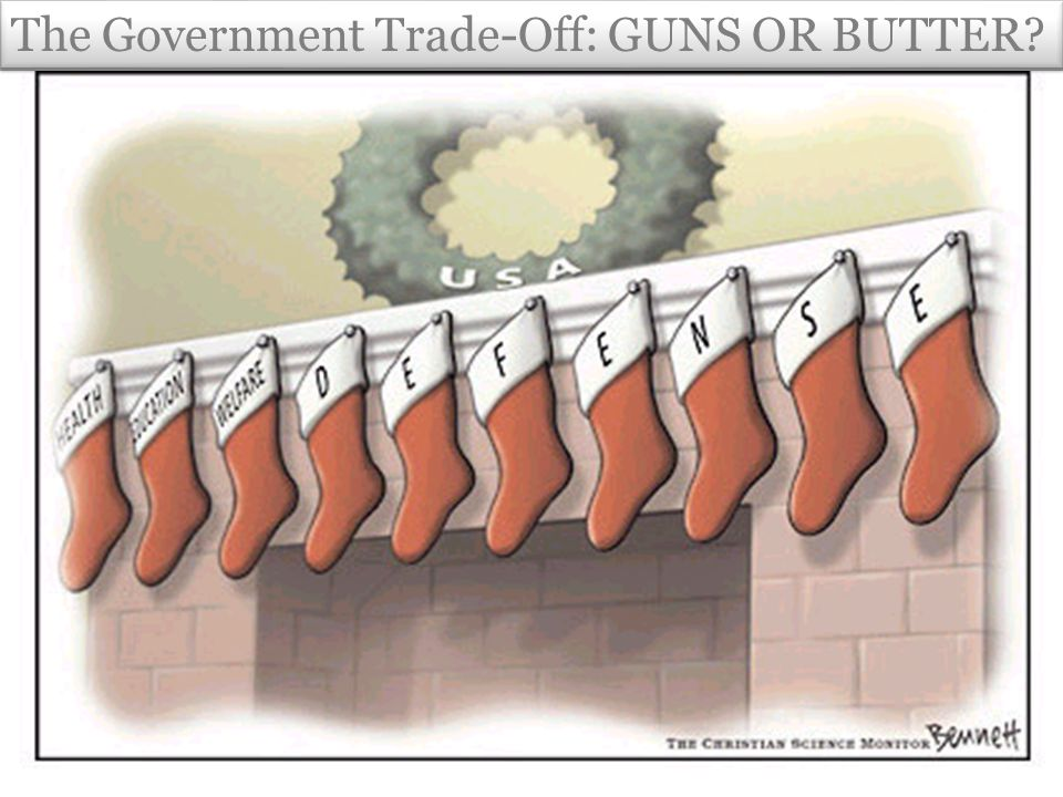 The Government Trade-Off: GUNS OR BUTTER
