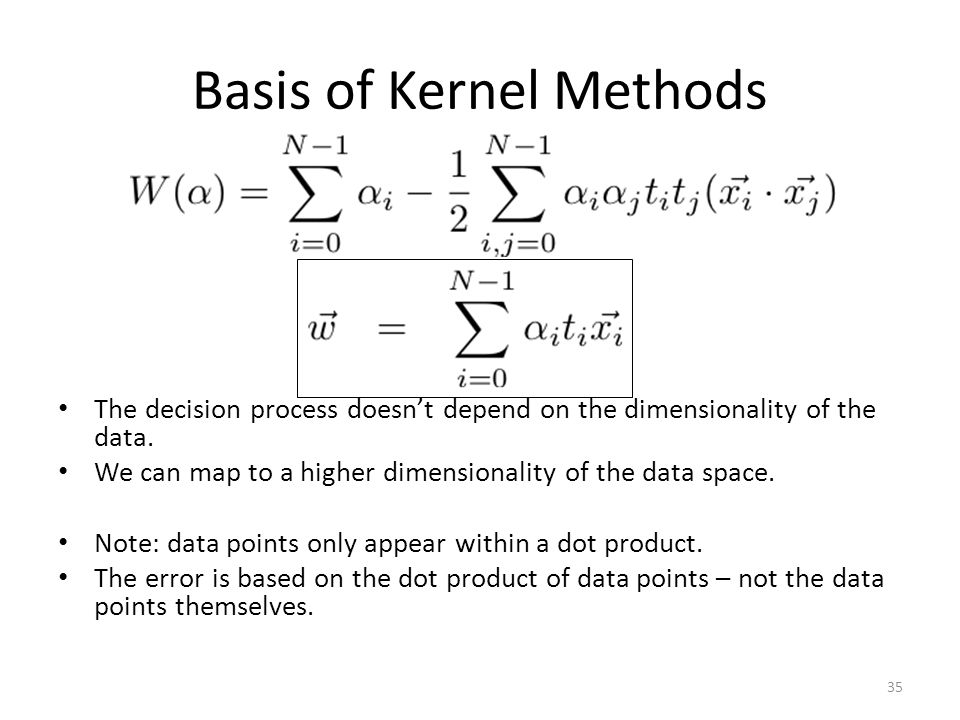Basis of Kernel Methods