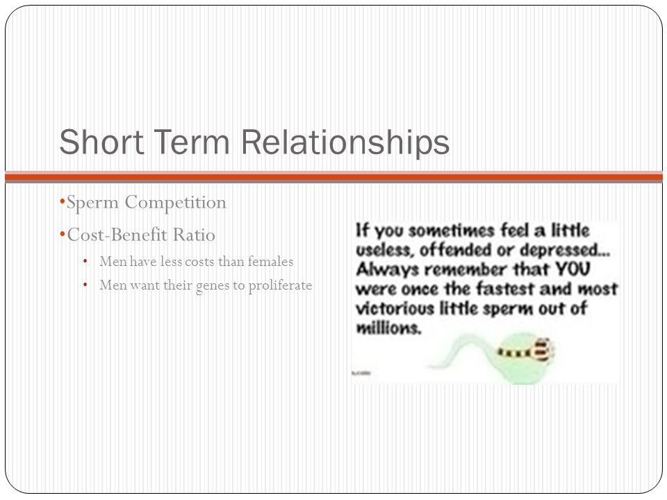 Short term dating