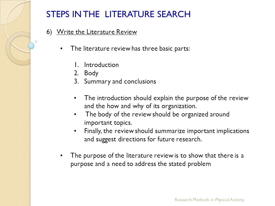 a literature review is a body Writing a literature review  a literature review follows an essay format (introduction, body, conclusion), but if the literature itself is the topic of the essay,.
