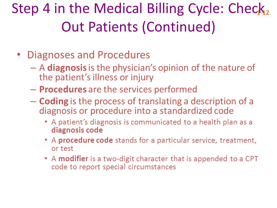 assignment steps in the medical billing The medical billing processthe medical billing process write a 500- to 700-word paper that lists the sequence of steps in the medical billing process in.