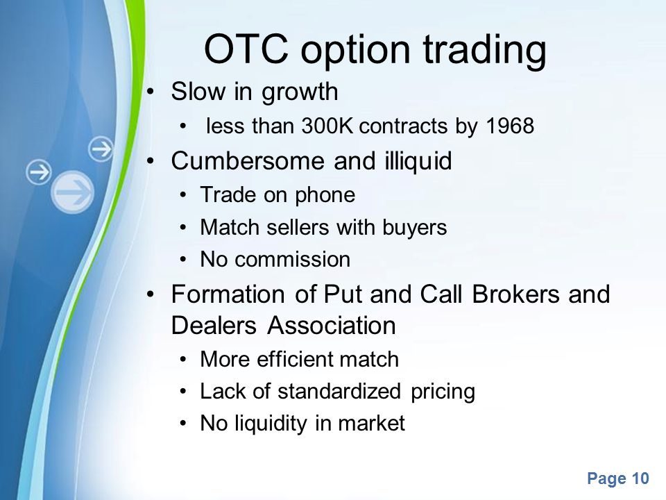 Do options trade otc