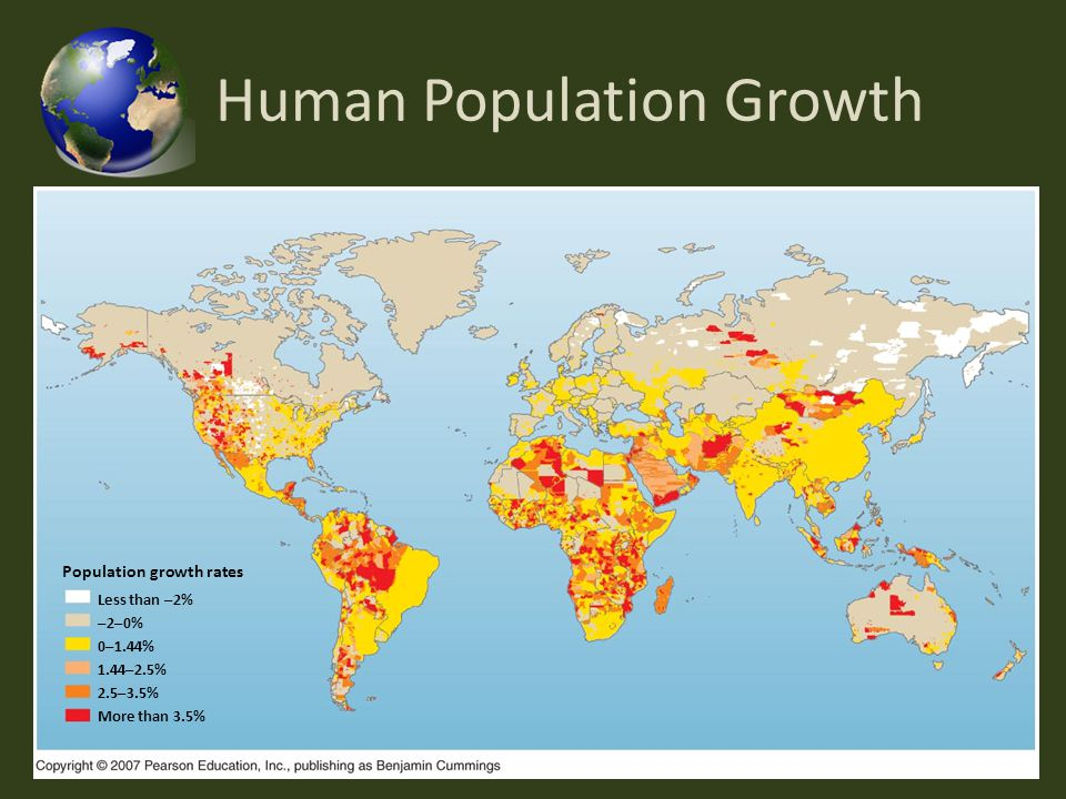 the influence of global population growth on the environment Impact of population growth on food supplies and environment by david  of the global food supply  academy of sciences on population growth.