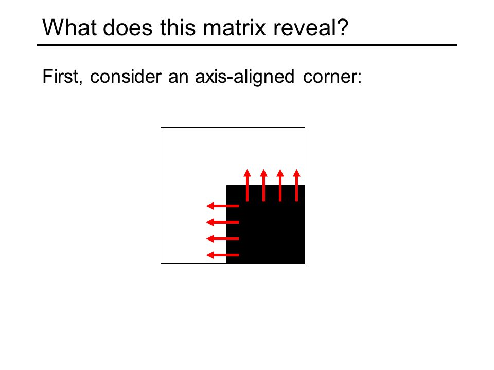 What does this matrix reveal