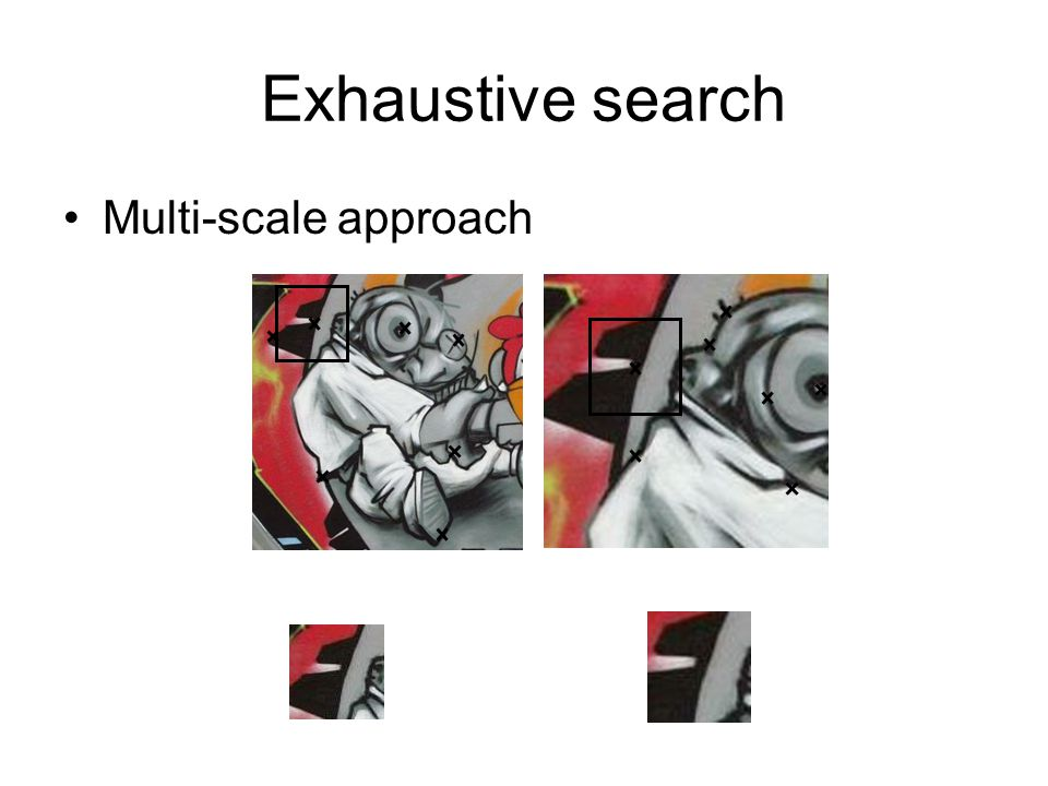 Exhaustive search Multi-scale approach