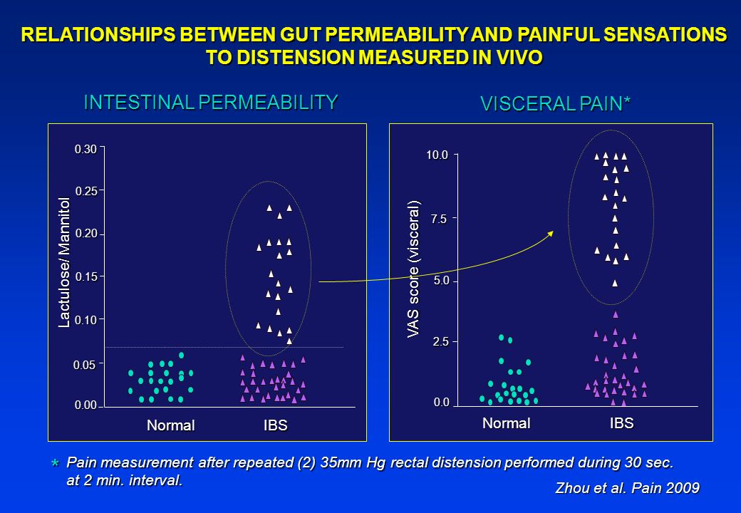 * RELATIONSHIPS BETWEEN GUT PERMEABILITY AND PAINFUL SENSATIONS