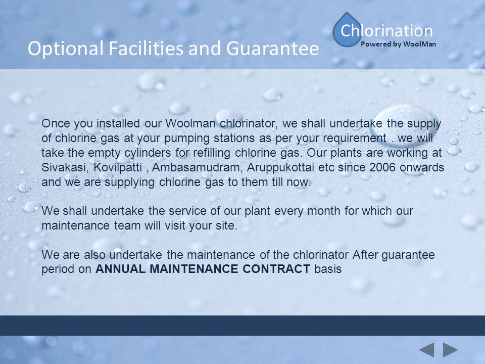 Optional Facilities and Guarantee