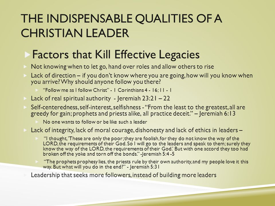 how to become a christian leader