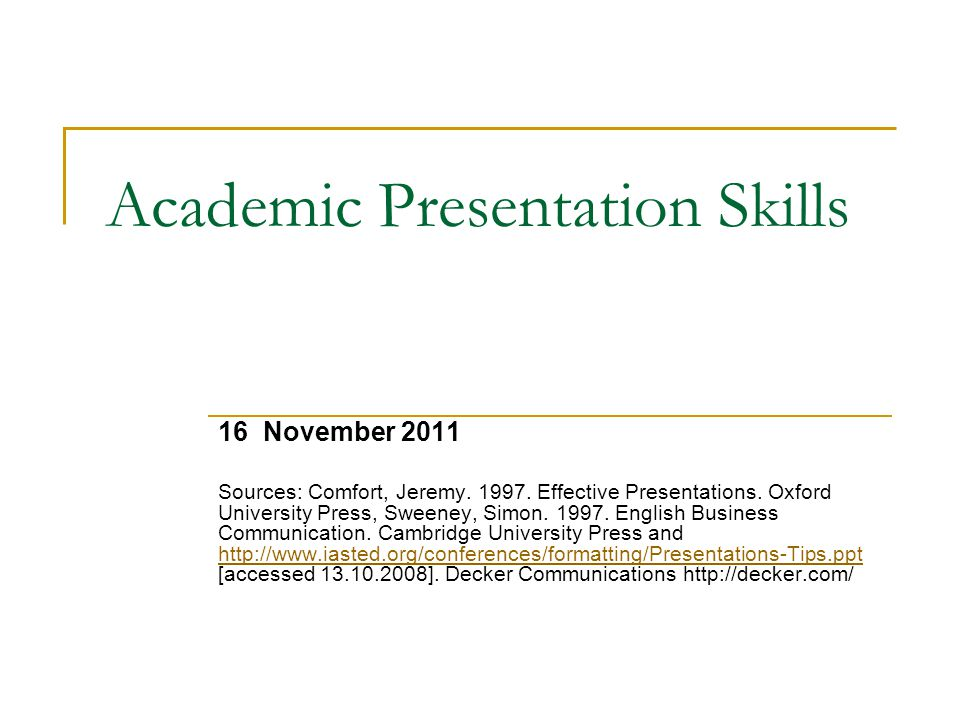 Presentation Skills Success