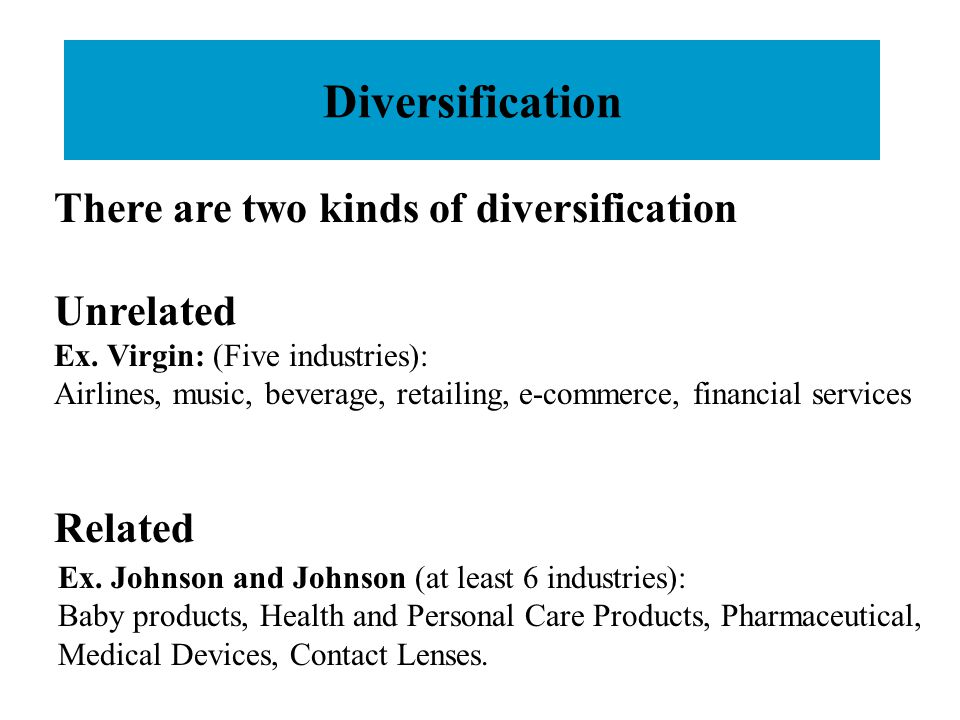 unrelated diversification Influence of unrelated diversification strategy components on corporate performance: case doi: 109790/487x-17437883 www.