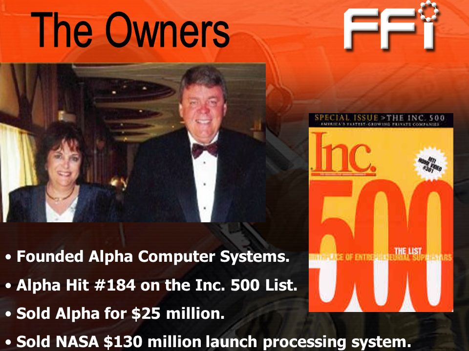 The Owners Founded Alpha Computer Systems.