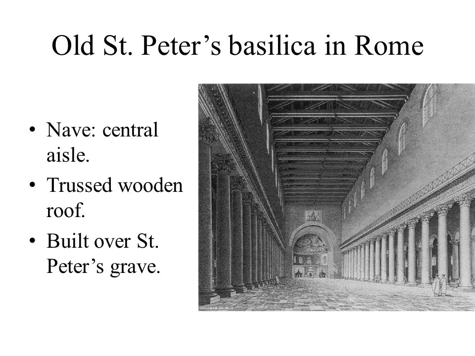 Old St. Peter's basilica in Rome