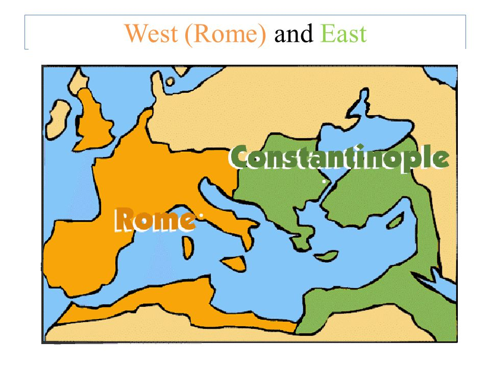 West (Rome) and East