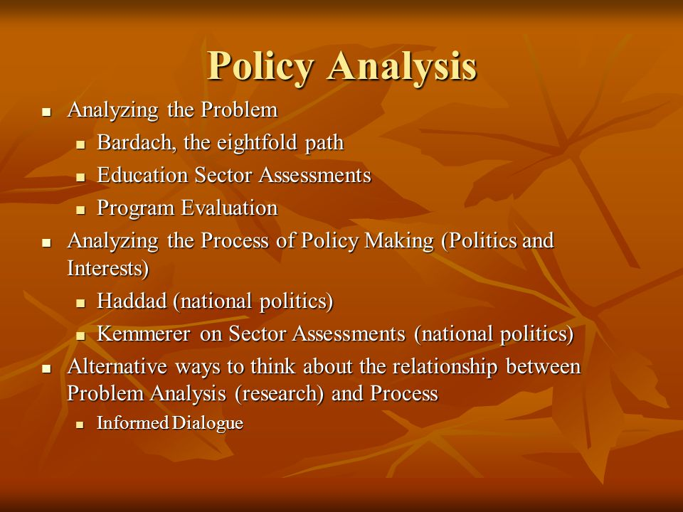 relationship between research and policy making definition