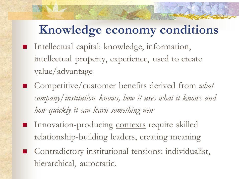 Knowledge economy conditions