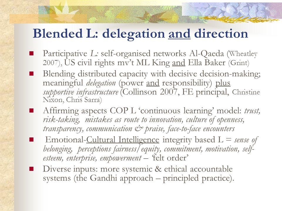 Blended L: delegation and direction