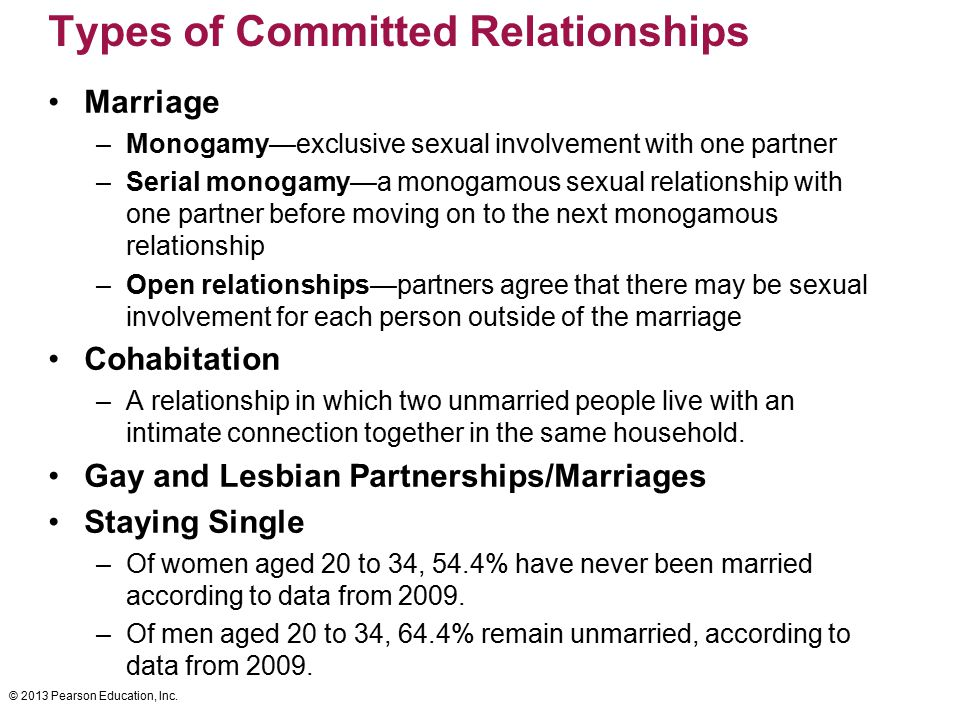 Types of Committed Relationships