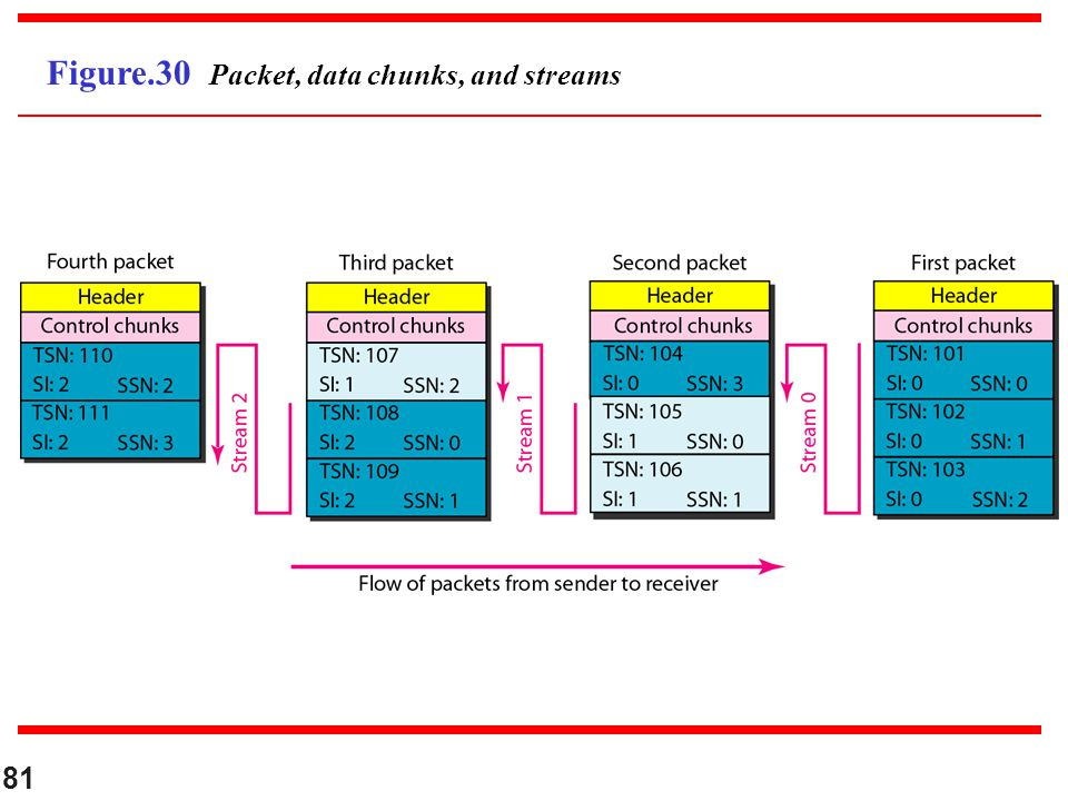 Figure.30 Packet, data chunks, and streams