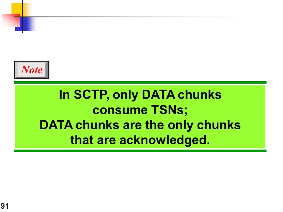 In SCTP, only DATA chunks consume TSNs;