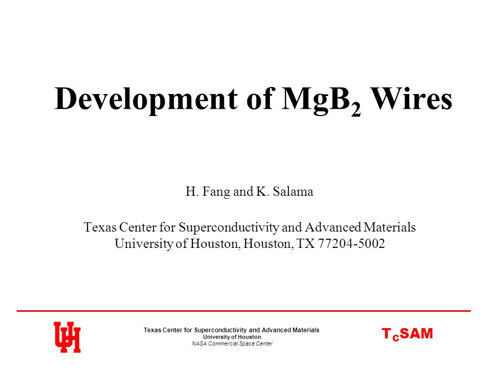 Development of MgB2 Wires