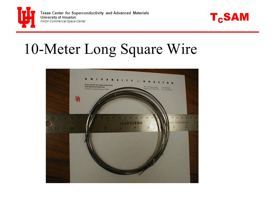 10-Meter Long Square Wire