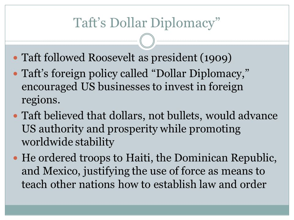 foreign policy diplomacies of presidents roosevelt taft and wilson Description slide 1 2 nd quarter benchmark review game slide 2 test taking tips get a good nights sleep- late nights do you no good study over time.