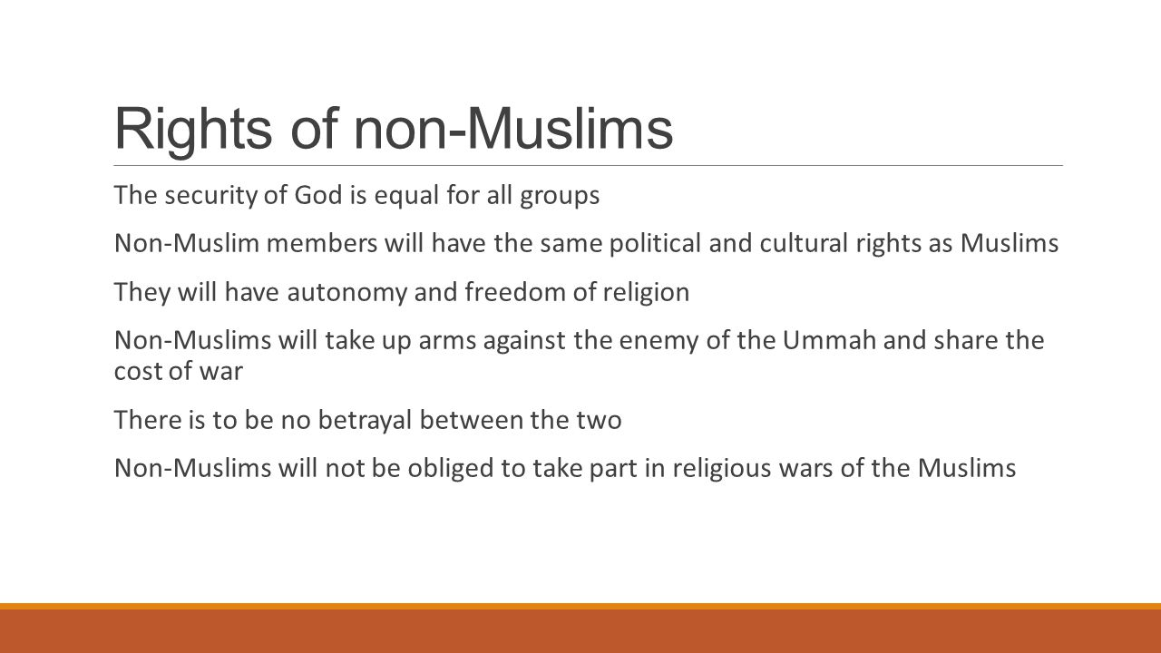 inttroduction of non muslim rights Non-muslim rights in the ottoman empire more and more non-muslims came under ottoman the rights and freedoms it gave to religious minorities were far.