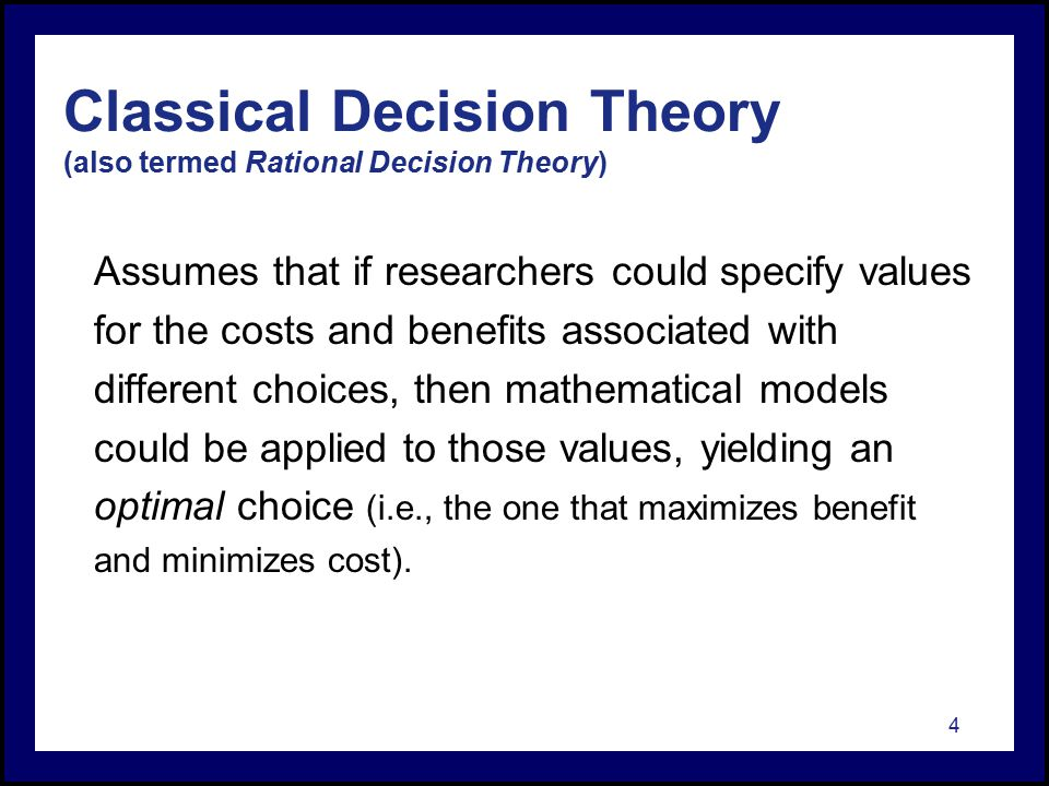 essay on the application of mathematics to the theory of decision-making