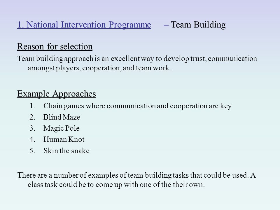 teamwork cooperation examples