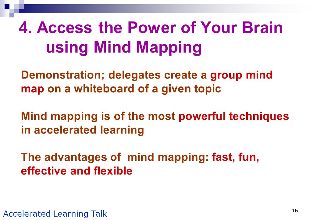 4. Access the Power of Your Brain using Mind Mapping