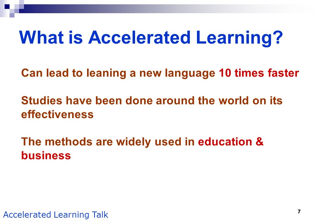 What is Accelerated Learning