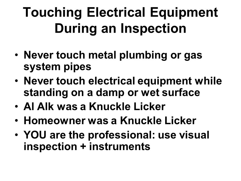 electrical safety for home inspectors