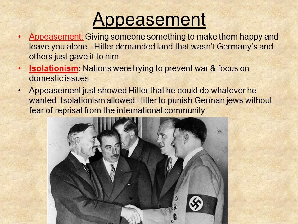 Notes on Appeasement