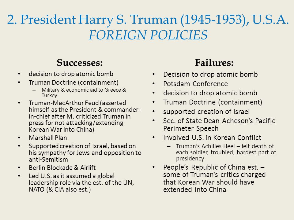 should harry s truman have dropped