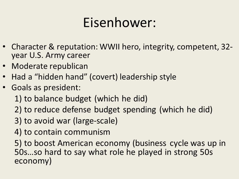 leadership style of president dwight eisenhower Of the president and his inner circle: leadership style and the advisory process in foreign affairs  relations--leadership style eisenhower, dwight d.
