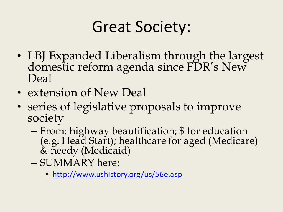 the new deal the great society essay Free essay on analysis of roosevelt's new deal and the great depression available totally free at echeatcom, the largest free essay community.