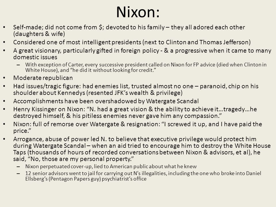 Impeachment process against Richard Nixon