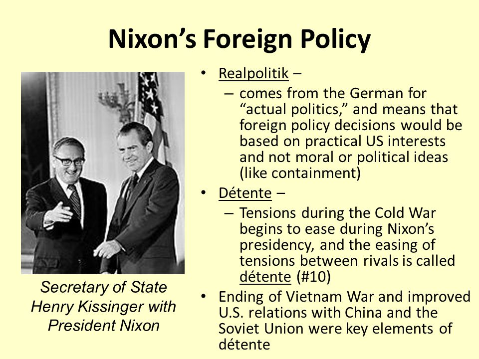 foreign policy in the nixon presidency essay Critical thinking skills: essay and discussion questions  nixon's realism and  carter's idealism in american foreign policy  the elements of the reagan  administration's foreign policy beliefs, successes and failures that policy in the.