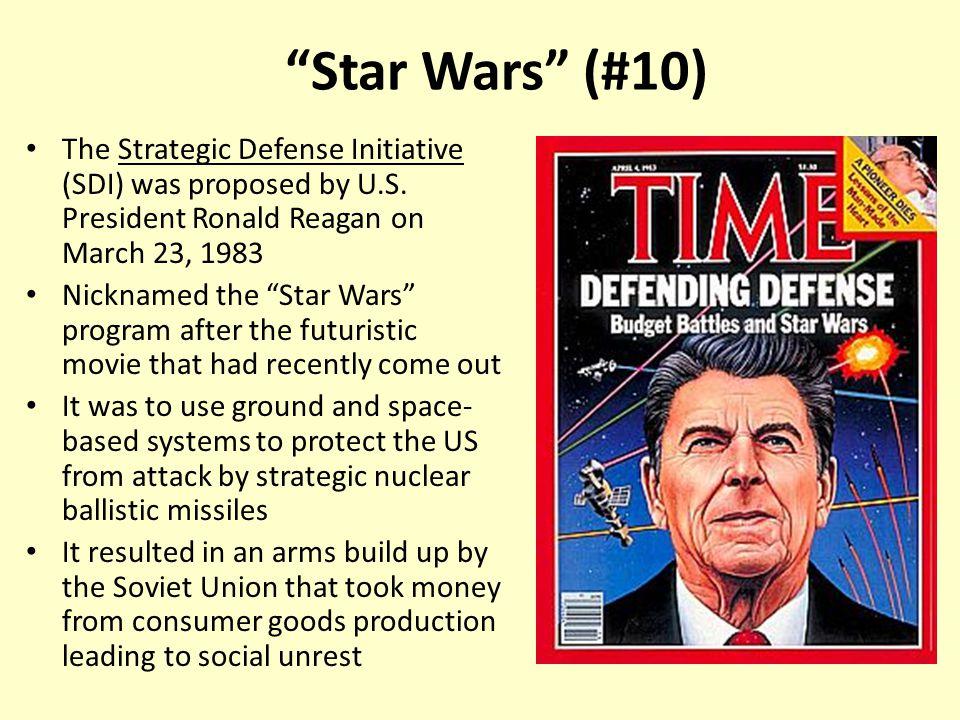 the strategic defense initiative of ronald reagan