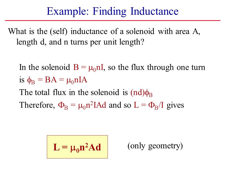Example: Finding Inductance