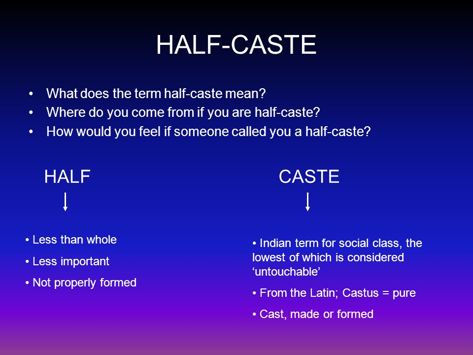 half caste john agard essay Excuse me / standing on one leg / i'm half-caste / explain yuself / wha yu mean /  when yu say half-caste / yu mean when picasso / mix red an green / is a.