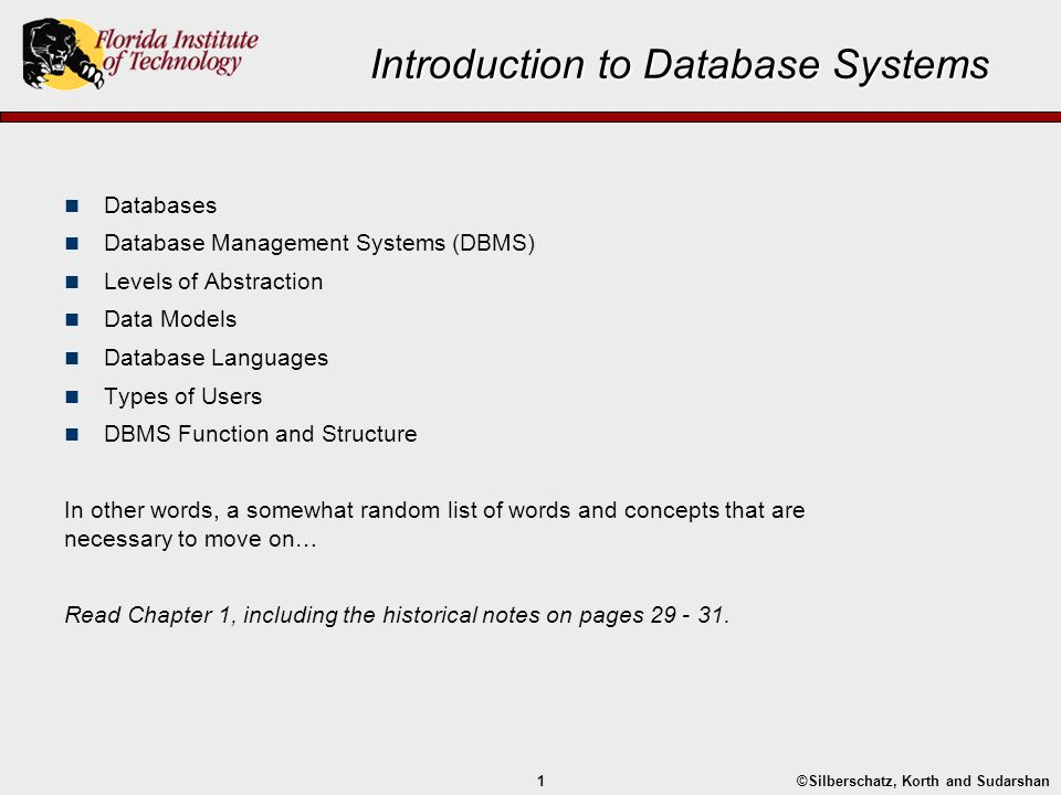 concept of database management system