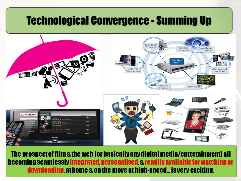 Technological Convergence - Summing Up