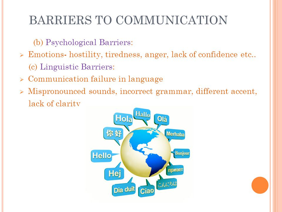 psychological barriers in communication essay Explore a database of 500,000+ college essay examples  barriers to communication  semantic barriers conventions of meaning physical barrier psychological.