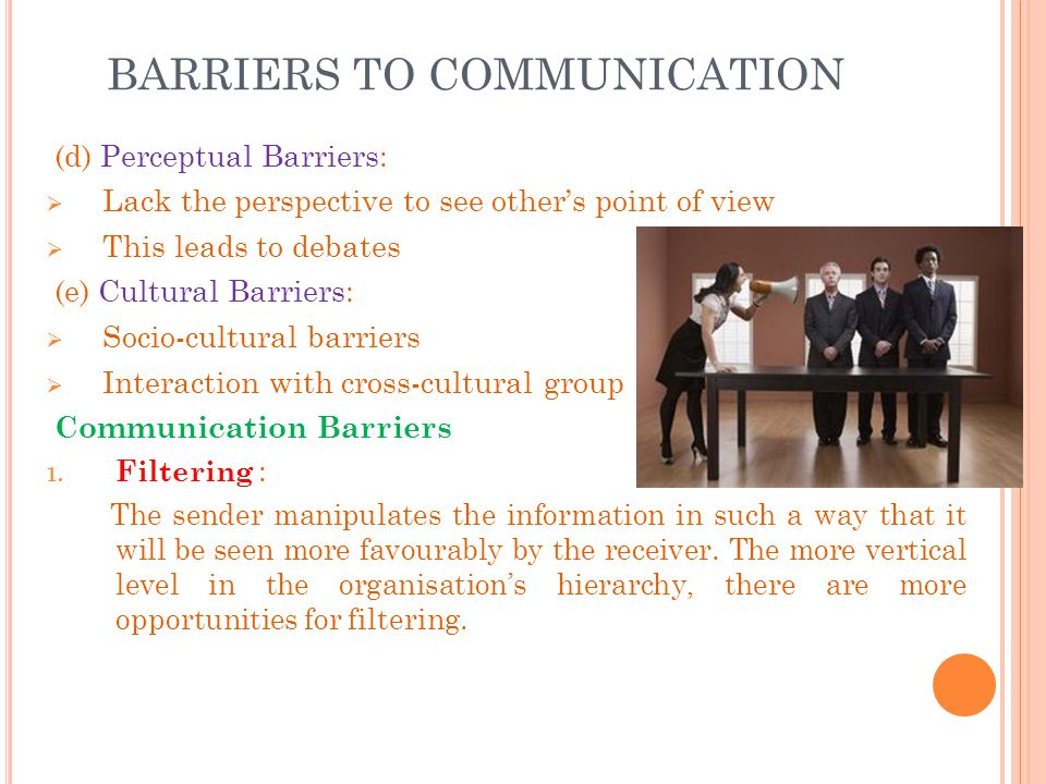 four key barriers to communication In this short list i identify barriers to effective communication that will–if not addressed–contribute to the failure of business change projects.