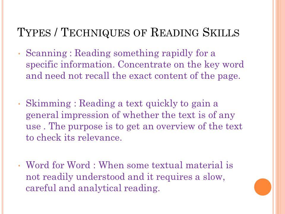 Types of reading - slideshare.net