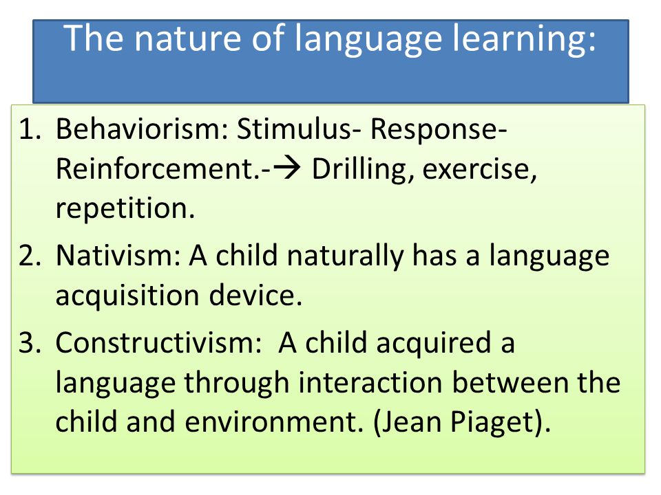 7 conditions of learning language Learning disabilities are neurologically-based processing problems these processing problems can interfere with learning basic skills such as reading, writing and/or math they can also interfere with higher level skills such as organization, time planning, abstract reasoning, long or short term memory and attention it is important to realize.