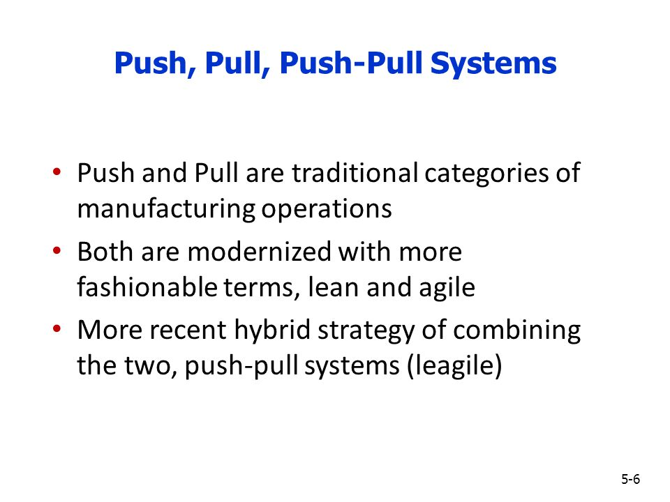push and pull strategy in supply chain pdf
